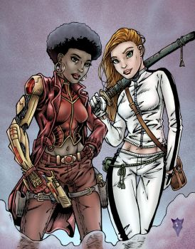 Misty and Colleen colors by RevolverComics