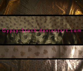 Metallic Gold with Hearts by Gypsy-Stock
