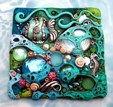 Coral Reef Suncatcher Tile by MandarinMoon