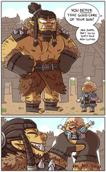Big angry dad and small innocent son by ZeTrystan