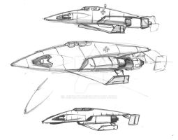 spacemaster 02  fighters Axis sketch by Jepray