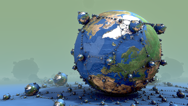 Global Networking by fractal3D