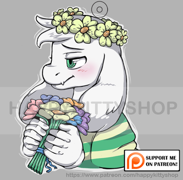 Flower Crown for Goat boi Charm by HappyKittyPlushies