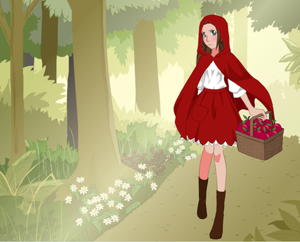 Me as Little Red Riding Hood by lovelyjuliexo