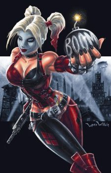 Harley Quinn Arkham City by LordWilhelm