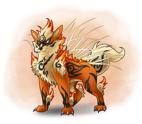 Mega Arcanine Commission/ Collaoration by Bluepisces97