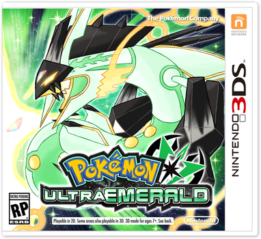 Pokemon Ultra Emerald Boxart by Deltheor