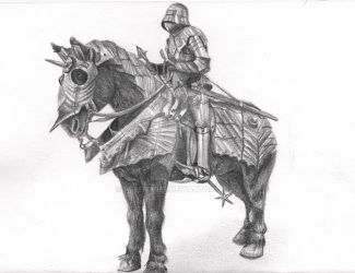 Knight and Horse by Helena998