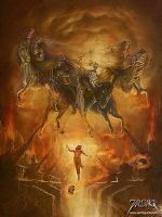 The Four Horsemen by jarling-art