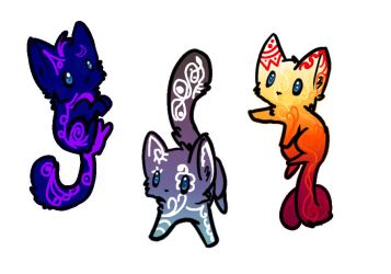 The Scribble Cats! [SOLD] by DemonicRhino