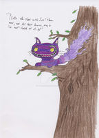 The Cheshire Cat: In His Tree by Bluewind2006
