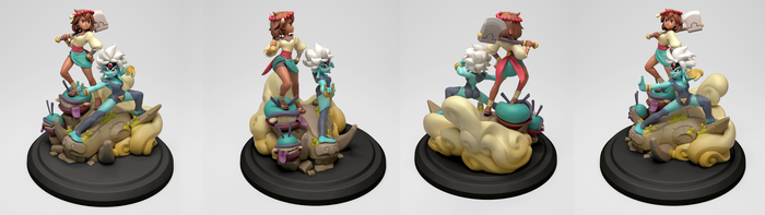 Indivisible: Anja and Heruka Statue by sstrikerr