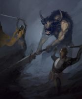 Knights and the beast by QuintusCassius