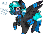 Its So Blue by ARTISTwolfgirl493