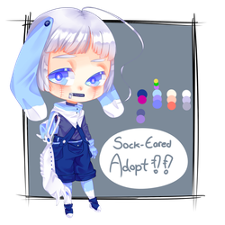 Sock-Eared Adoptable [CLOSED] by salmon-celed