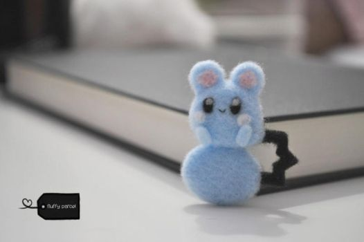 Needle felted azurill by FluffyParcel