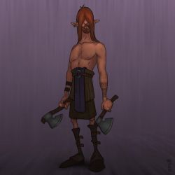 Skinny warrior [Character Design] by GiovaBellofatto