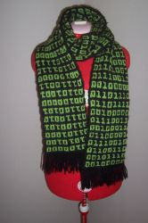 Binary Scarf by crazycrafterkitty