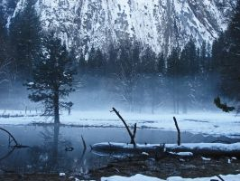 Winter Pond 2 - stock by Synaptica-stock