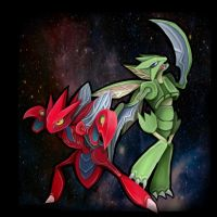 Scizor and Scyther