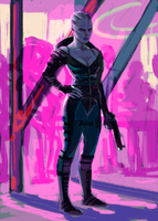 Asari Bouncer by characterundefined