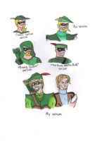 Different Styles of Green Arrow by KessieLou