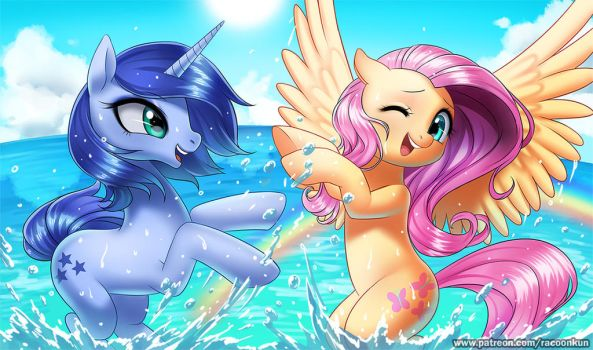 Water fun by RacoonKun