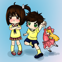 Taihen and Taiyou by Delight046