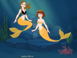 Terra and Princess Daisy as mermaids by Lydiathecrystalgem