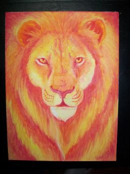 Solstice Lion by selkies-song