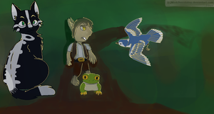 Familiars Characters For School Project by Romel22445