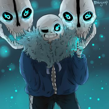Sans and Blasters (edit) by shion396