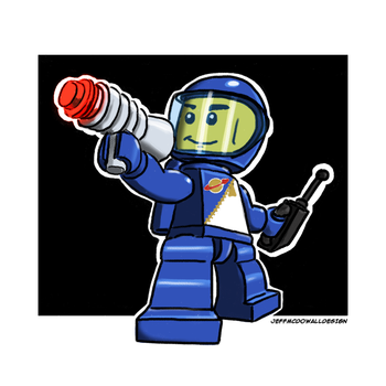 Lego Spaceman by jeffmcdowalldesign