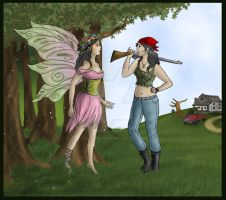 Fairy Face Off by Captain-Savvy
