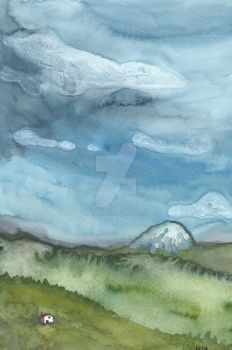 House Under the Volcano by bluedogrose