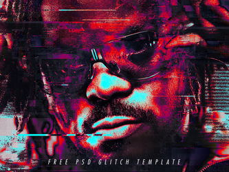 Free Glitch Psd Photoshop Template by Giallo86