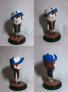 Gravity Falls - Dipper Pines maquette by koisnake