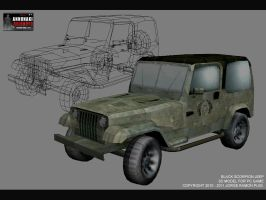 BLACK SCORPION JEEP by Nurendsoft