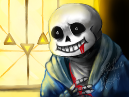 Death of Sans - Nintendo 3DS drawing by Nasuki100