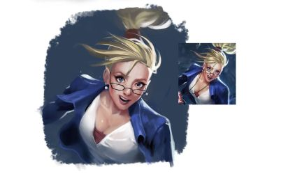 Forecast Janna (League of Legends fanart) by IroPagis