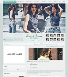 Wordpress theme - Premade 002 by xBrokenRose