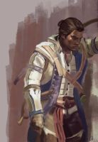 Connor Kenway study by WisesnailArt