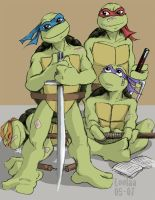 Ninja Turtle Kids by loolaa