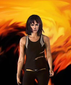 Johanna Mason: District 7 Digital Painting by Firesphere306
