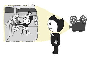 Bendy Discovers Mickey by BlueEngineLiz6