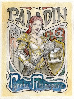 DND Art Nouveau set: Paladin by Kaos-Nest