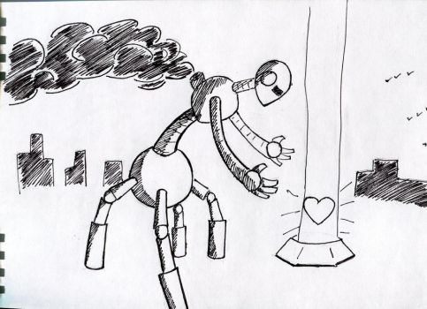 robot longs for heart by Timonzel