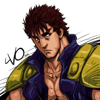 Digital Sketch Warm up - 26 Kenshiro by Vostalgic