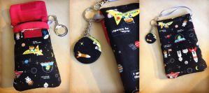 Kawaii Cosmos Phone and Nintendo 3DS Purselet by Monostache
