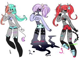 Adoptables Batch #39 (ONLY #1 and 3 OPEN) by OniichanAdopts